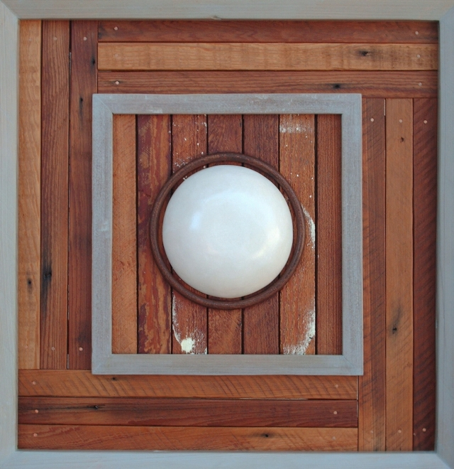 Cutout Circle, salvaged wood