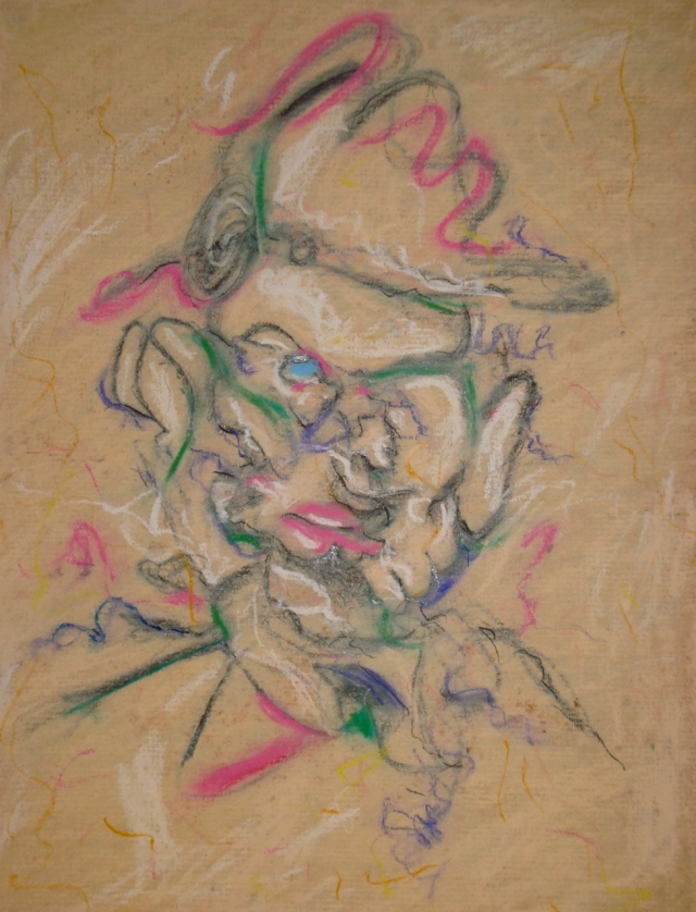 Man in a Hat, pastel