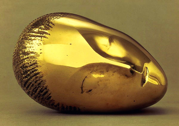 Constantin Brancusi, Sleeping Muse II, bronze, 1917, source: WikiPaintings
