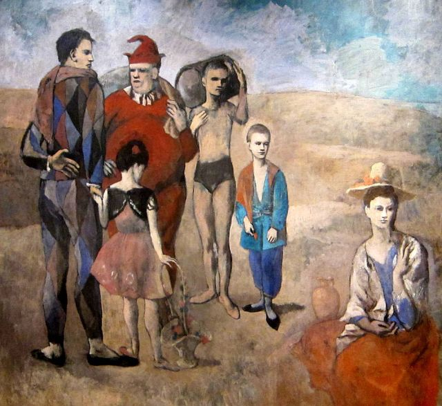 Picasso, Les Saltimbanques (source: Wikipedia, AgnosticPreachersKid)