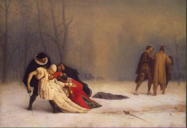 Jean-Léon Gérôme, The Duel After the Masquerade (source: Wikipedia)