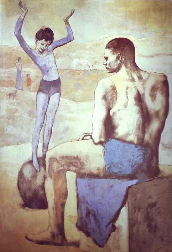 Picasso, Acrobat on a Ball (source; Wikipedia)